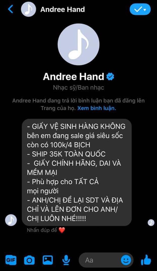 Fanpage rapper Andree vừa bị hack, ngay lập tức livestream xả kho bán hàng - Ảnh 5.