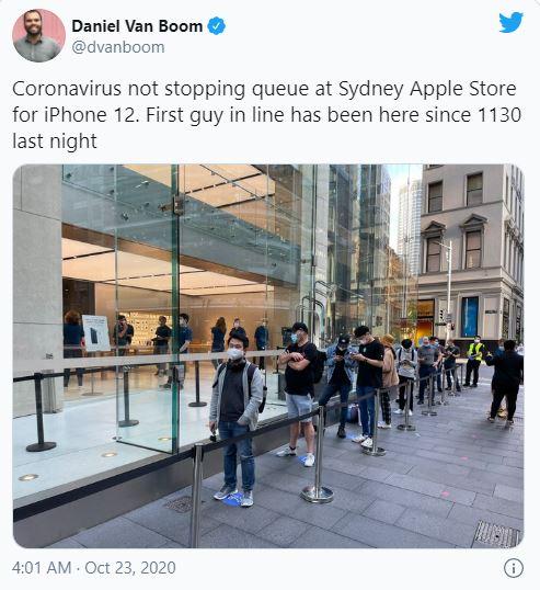 Dân tình vẫn xếp hàng dài chờ mua iPhone 12 bất chấp COVID-19 - Ảnh 2.