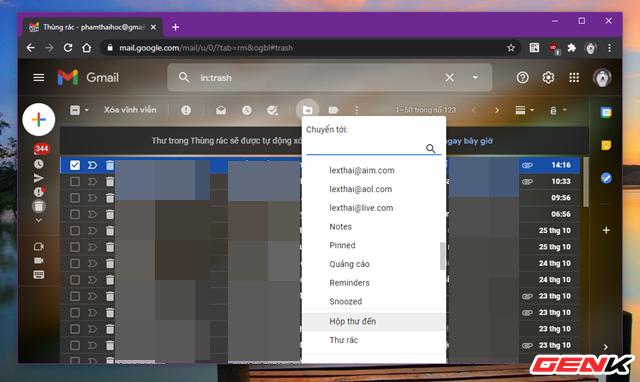 Có thể khôi phục lại email đã xóa trong Gmail hay không? Câu trả lời đơn giản đến bất ngờ - Ảnh 2.