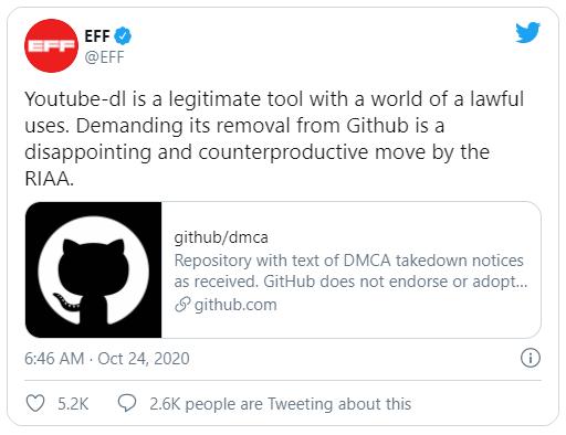 Phản đối GitHub gỡ bỏ công cụ tải video trên YouTube, lập trình viên upload lại hàng trăm bản sao của nó lên web - Ảnh 2.