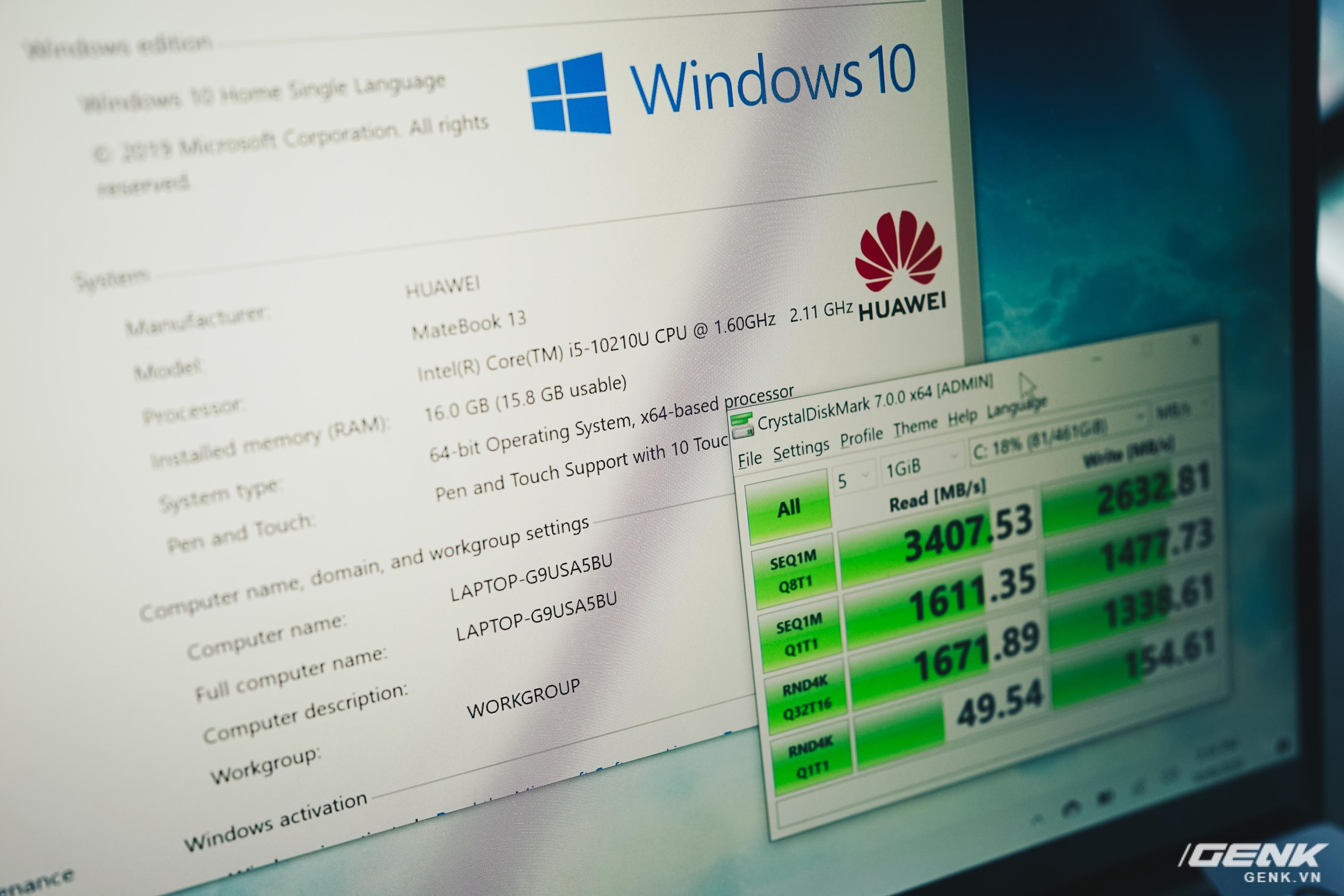 Đánh giá Huawei MateBook 13: Ultrabook tốt nếu người dùng chấp nhận vượt qua rào cản thương hiệu (và thời lượng pin tệ hại) - Ảnh 6.