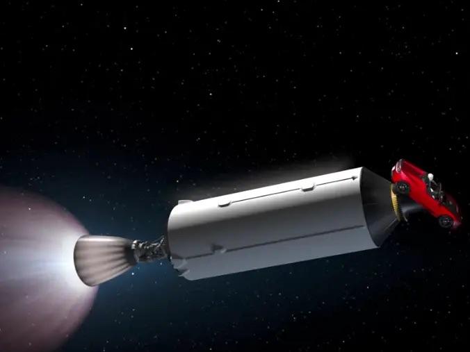 Chiếc Tesla Elon Musk phóng lên vũ trụ vừa bay ngang Sao Hoả lần đầu tiên sau 2 năm rời Trái đất - Ảnh 1.