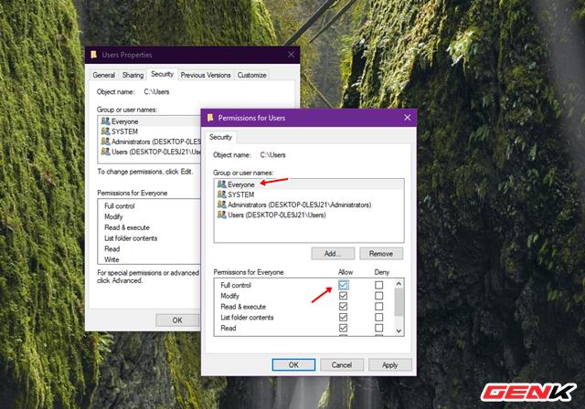 """Sửa lỗi """"Permission to access this folder"""" khi truy cập vào thư mục trong Windows 10 - Ảnh 6."""
