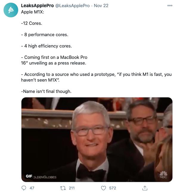 Apple M1X lộ diện: 12 nhân, hiệu năng cực khủng, trang bị trên MacBook Pro 16 inch ra mắt vào năm sau - Ảnh 2.