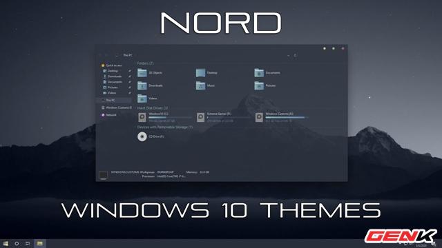 Hướng dẫn cài Nord Windows 10 Theme, giao diện nền tối siêu chất - Ảnh 1.