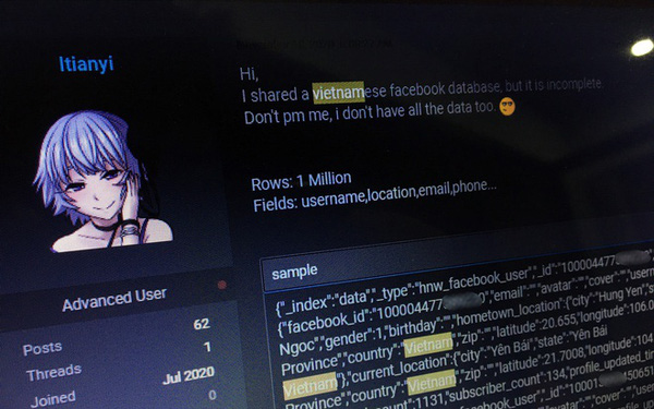 Millions Of Facebook Accounts Of Vietnamese Users Were Spread By Hackers For Free Itzone