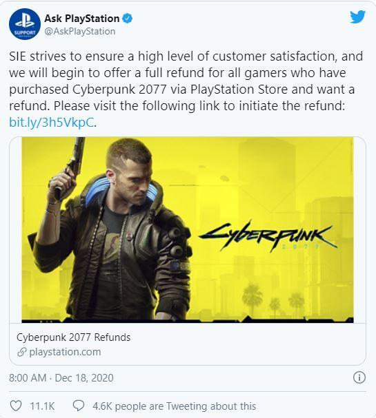 Sony rút Cyberpunk 2077 khỏi PlayStation Store và cho người dùng hoàn tiền - Ảnh 1.