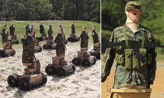 Quân đội Mỹ dùng robot có thể chửi thề bằng 57 ngôn ngữ nếu bị bắn trúng làm bia tập bắn - Ảnh 1.