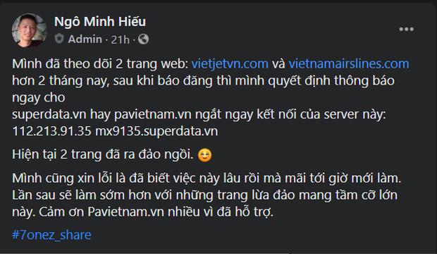 Sau khi Hieupc góp phần xóa sổ nhiều trang web lừa đảo bán vé máy bay, cư dân mạng bất ngờ gọi hồn phimmoi.net - Ảnh 5.