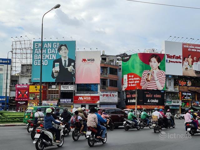 """Sự thật về bảng quảng cáo Gojek """"đá đểu"""" Baemin tại Sài Gòn - Ảnh 1."""
