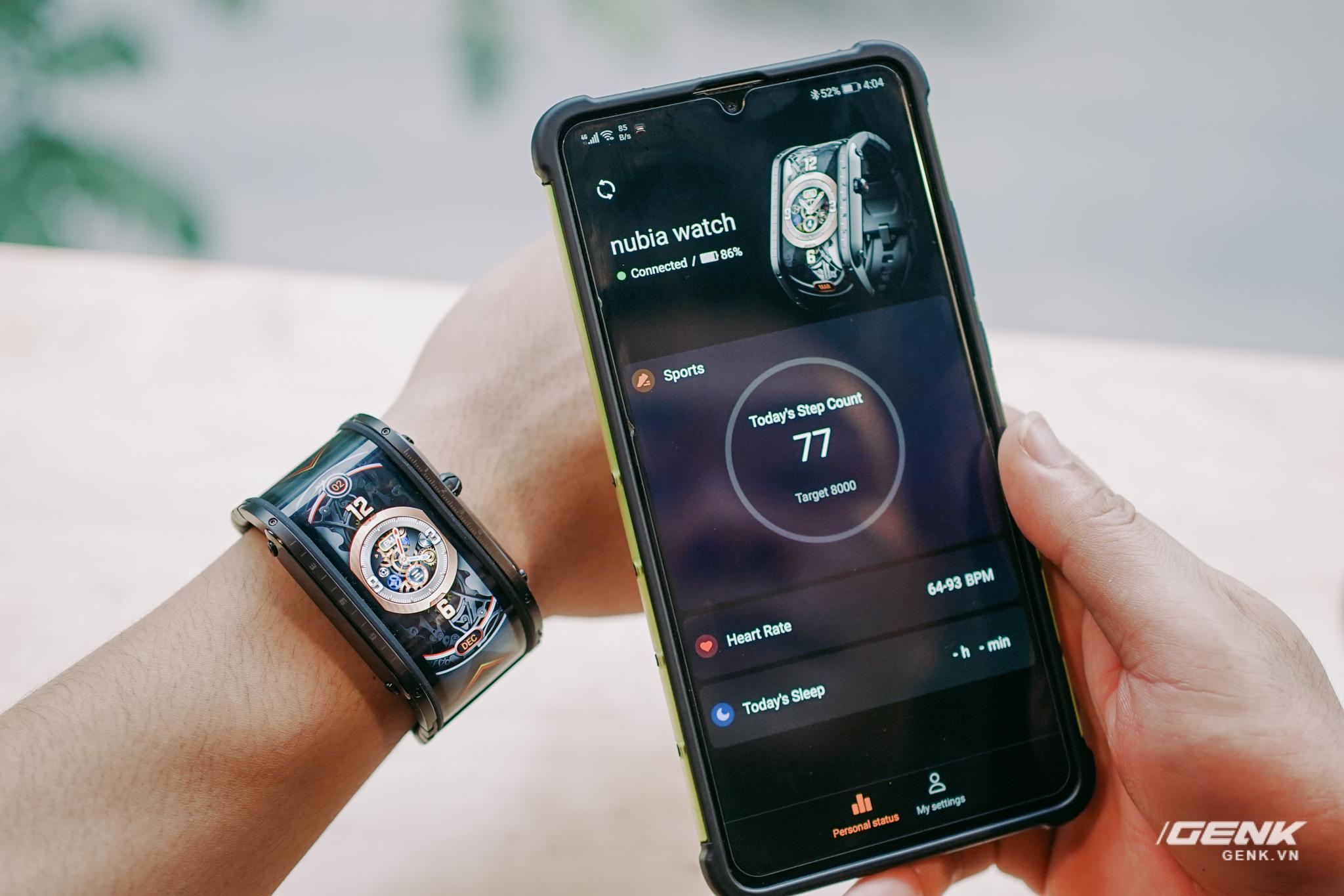 Trên tay Nubia Watch: Smartwatch màn hình uốn dẻo siêu dị không dành cho người bình thường - Ảnh 9.
