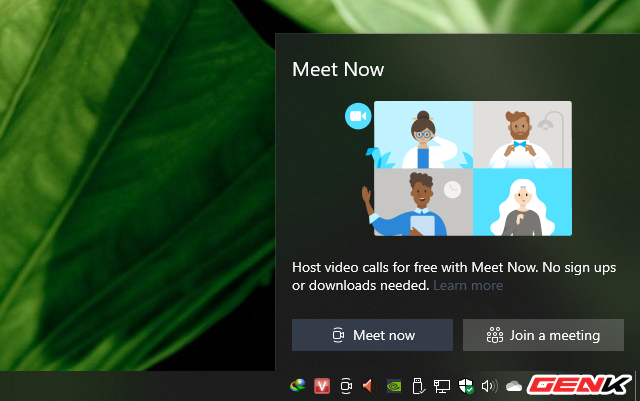 """""""Meet Now"""" ở Windows 10 là gì? Và làm thế nào để sử dụng nó? - Ảnh 4."""