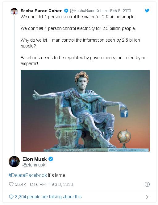 Tỷ phú Elon Musk kêu gọi xóa Facebook - Ảnh 2.