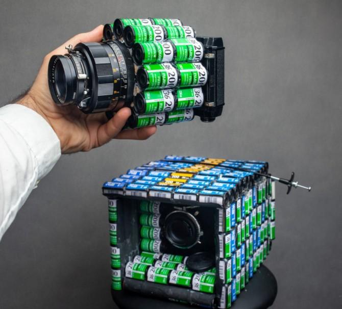 YouTuber kiêm nhiếp ảnh gia biến hàng trăm vỏ film 35mm thành máy ảnh film cực độc - Ảnh 1.