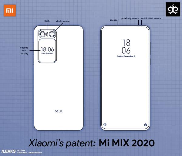 Xiaomi Mi MIX 2020 lộ diện thiết kế cực kỳ độc đáo, hai màn hình, không camera selfie - Ảnh 1.