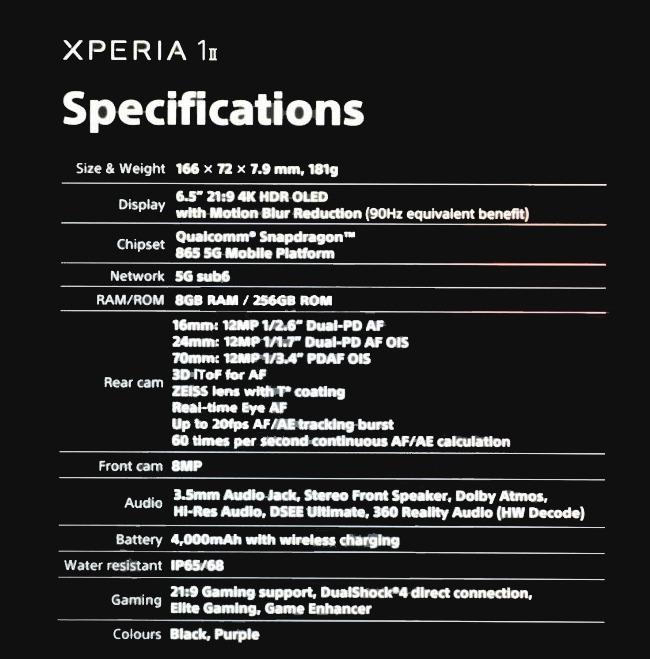 Sony Xperia 1 II lộ diện: Màn hình OLED 21:9, 4 camera ZEISS, chip Snapdragon 865 - Ảnh 3.