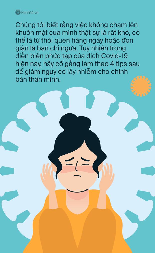 Làm thế nào để không sờ tay lên mặt? - 4 tips đơn giản giúp đôi tay không trở thành cầu nối lây nhiễm trong mùa dịch Covid-19 - Ảnh 2.