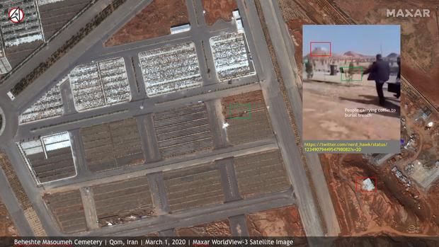 Hình ảnh đau lòng: Hố chôn thi thể người tử vong vì Covid-19 tại Iran đủ lớn để có thể nhìn thấy được từ vũ trụ - Ảnh 5.