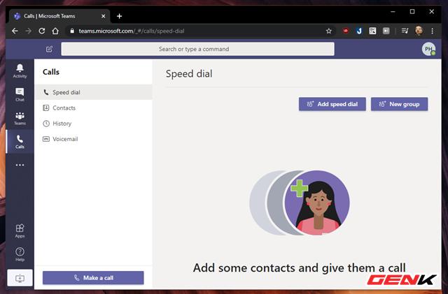 Ngoài ra, Microsoft Teams còn hỗ trợ người dùng tính năng cuộc gọi video, thoại đến các liên lạc cụ thể có sử dụng dịch vụ hoặc số điện thoại cố định.