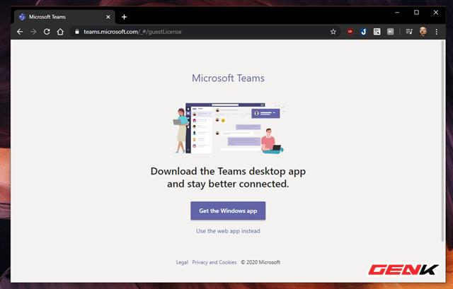 Hoàn tất việc đăng nhập, bạn sẽ được đưa đến trang giới thiệu tải ứng dụng về thiết bị. Microsoft Teams hỗ trợ hầu hết các nền tảng máy tính và di động hiện nay, cho phép bạn làm việc ở bất cứ đâu và bất cứ thời điểm nào.