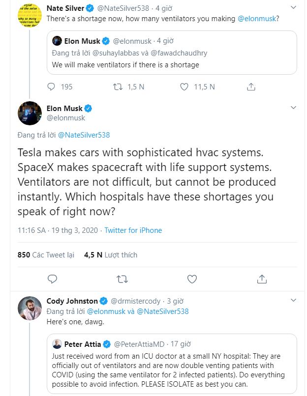 Elon Musk thay đổi hoàn toàn thái độ với Covid-19, khẳng định Tesla sẽ sản xuất máy thở nếu có sự thiếu hụt - Ảnh 3.