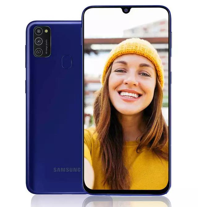 Samsung ra mắt smartphone tầm trung Galaxy M21 có pin 6.000 mAh, cụm camera sau hình chữ nhật giống Galaxy S20, giá 175 USD - Ảnh 1.
