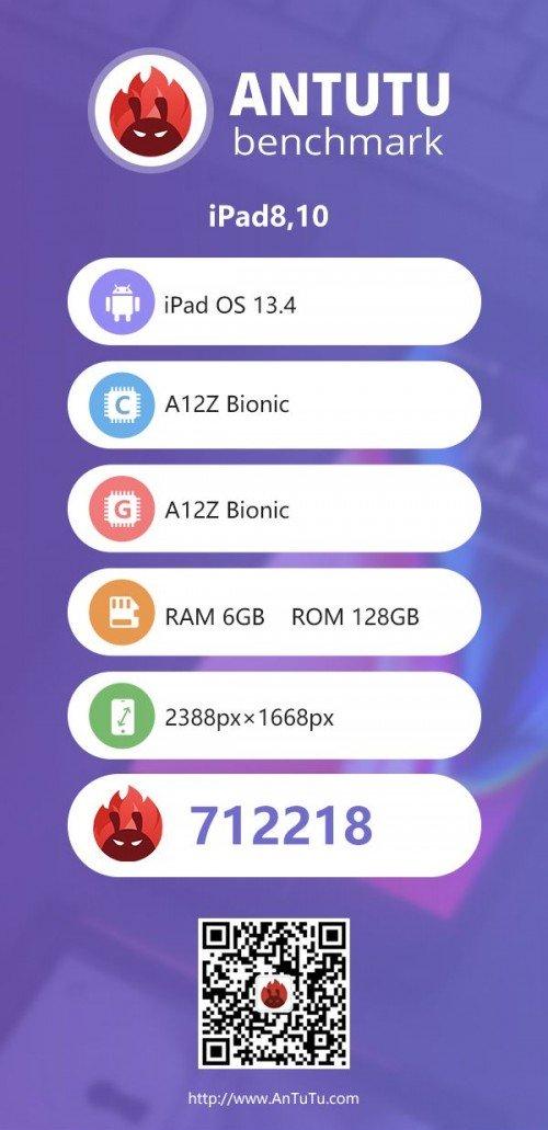 iPad Pro 2020 lộ điểm benchmark khủng trên AuTuTu, xác nhận có 6GB RAM, GPU nhanh hơn - Ảnh 2.