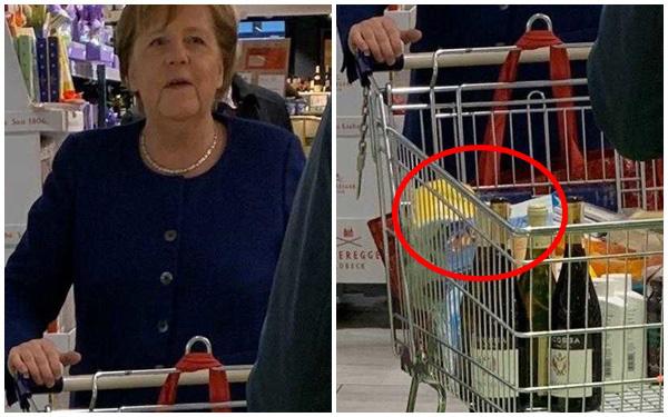 Hình ảnh gây bão của nữ thủ tướng Đức.