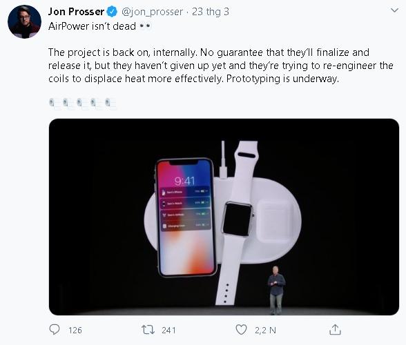 """Sạc không dây Apple AirPower có thể sẽ trở về từ """"cõi chết"""" - Ảnh 2."""