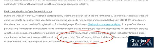 Hơn 90.000 đăng ký xin sản xuất máy thở của tập đoàn Mỹ, chỉ có Vingroup, Foxconn và một công ty Canada được chọn - Ảnh 1.