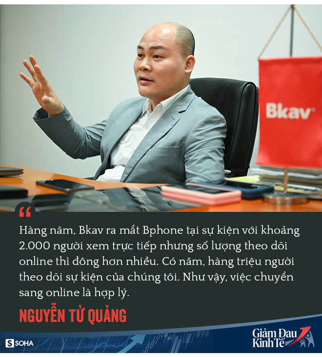 CEO Nguyễn Tử Quảng ra mắt Bphone 4 khi toàn xã hội bị cách ly: Chúng ta vẫn phải tiếp tục sống! - Ảnh 1.