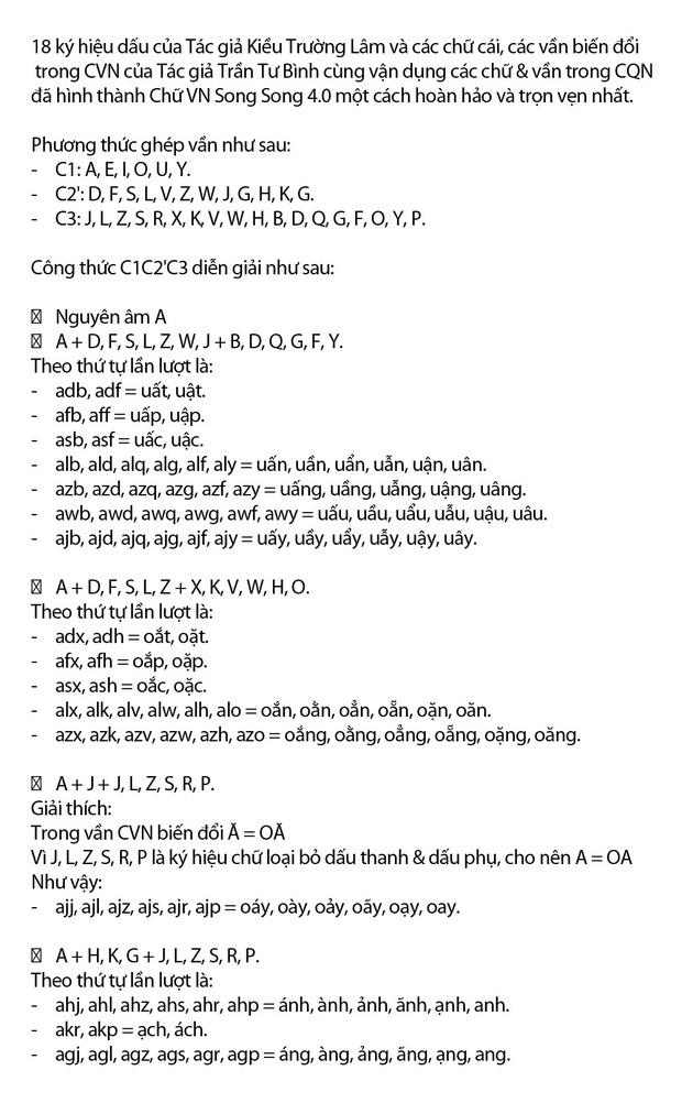 """Chi tiết """"Chữ Việt Nam song song 4.0"""" vừa được cấp bản quyền: Zuw zoif val ziwf emy, ond aol val lagh les - Ảnh 11."""