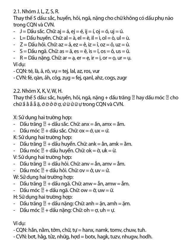 """Chi tiết """"Chữ Việt Nam song song 4.0"""" vừa được cấp bản quyền: Zuw zoif val ziwf emy, ond aol val lagh les - Ảnh 6."""