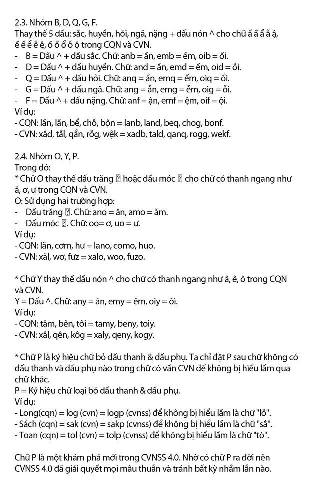 """Chi tiết """"Chữ Việt Nam song song 4.0"""" vừa được cấp bản quyền: Zuw zoif val ziwf emy, ond aol val lagh les - Ảnh 7."""