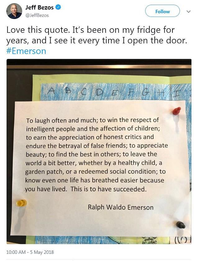 Nội dung đặc biệt trong tờ giấy bất di bất dịch dán trên tủ lạnh của tỷ phú giàu nhất hành tinh, tự nhắc nhở mình ghi nhớ mỗi ngày - Ảnh 2.