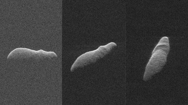 Tiểu hành tinh hình cái khẩu trang bay ngang Trái đất - Ảnh 2.