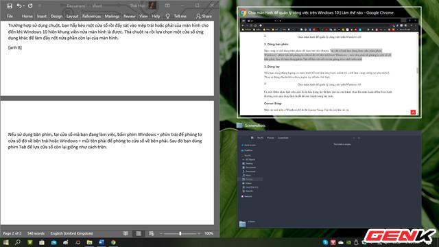 Windows 10 cũng có chức năng chia màn hình như trên macOS, thậm chí là đa năng hơn - Ảnh 1.