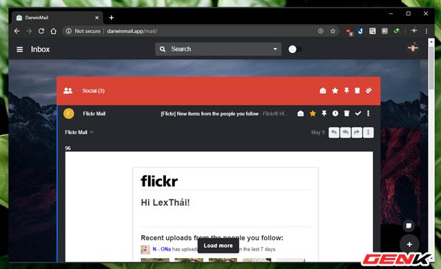 """Khoác """"áo"""" mới cho Gmail với bộ giao diện cực đẹp đến từ Darwin Mail - Ảnh 7."""
