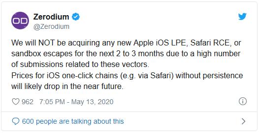 Hãng bảo mật tuyên bố dừng mua lỗ hổng trong iOS vì quá thừa thãi - Ảnh 1.