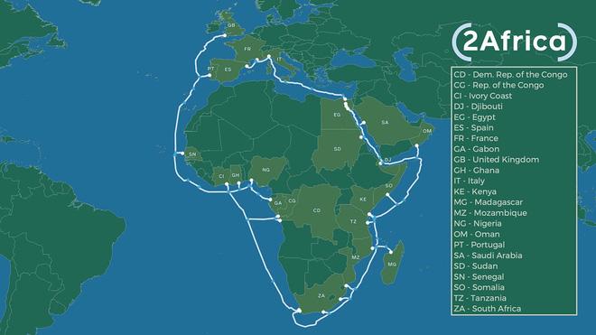 Không sợ cá mập cắn, Facebook sẽ đặt cáp quang biển bao quanh châu Phi - Ảnh 2.