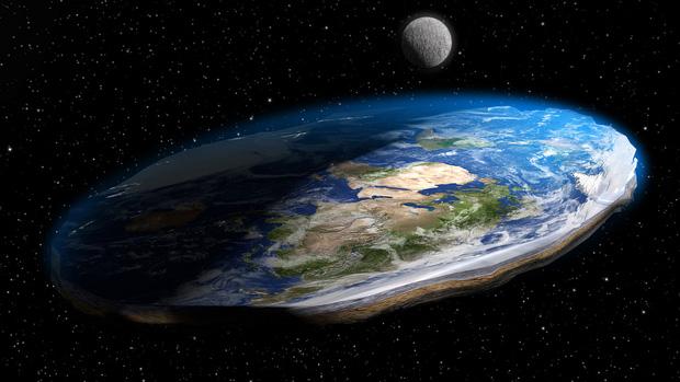 Hình dạng Trái đất trong con mắt những người theo chủ nghĩa Trái đất phẳng.