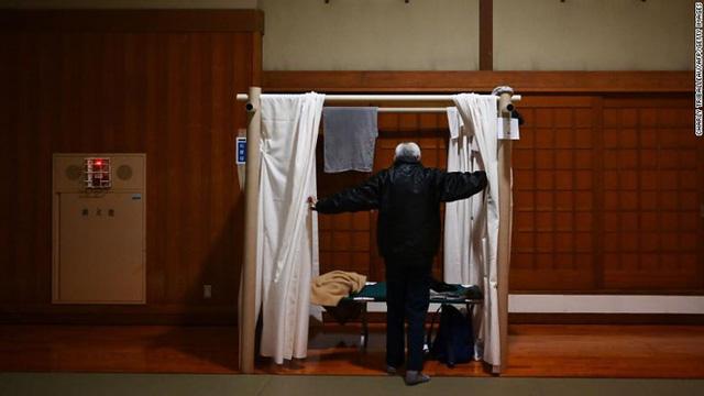 Một nơi trú ẩn do quận Kanagawa cung cấp cho những người từng ở tại các quán cà phê internet (Ảnh:CNN)