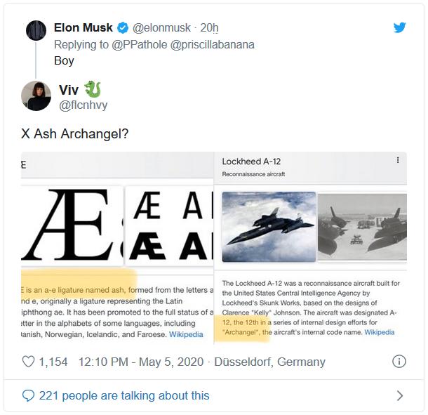 (Æ là chữ ghép của a-e trong tiếng Anh và được đọc là Ash. Còn A-12 là tên viết tắt của chiếc máy bay do thám siêu nhanh Lockheed A-12. Dự án chế tạo máy bay này còn tên mã nội bộ là Archangel.)