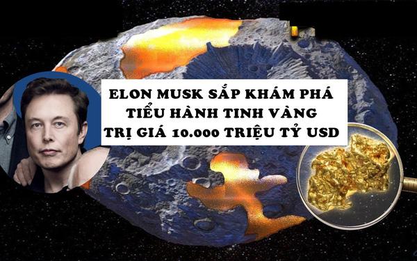 Phát hiện tiểu hành tinh vàng trị giá gần 10.000 triệu tỷ USD có thể biến tất cả mọi người thành nghìn tỷ phú, NASA thuê Elon Musk thám hiểm vào năm sau - Ảnh 1.