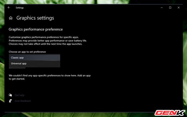 Cách thiết lập sử dụng Card màn hình mặc định cho từng ứng dụng trên Windows 10 - Ảnh 4.