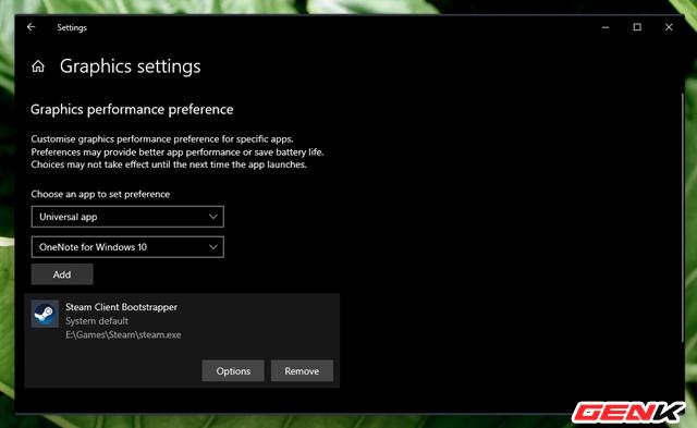 Cách thiết lập sử dụng Card màn hình mặc định cho từng ứng dụng trên Windows 10 - Ảnh 8.