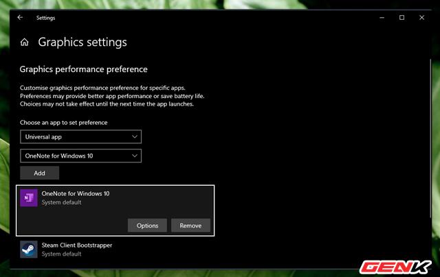 Cách thiết lập sử dụng Card màn hình mặc định cho từng ứng dụng trên Windows 10 - Ảnh 9.