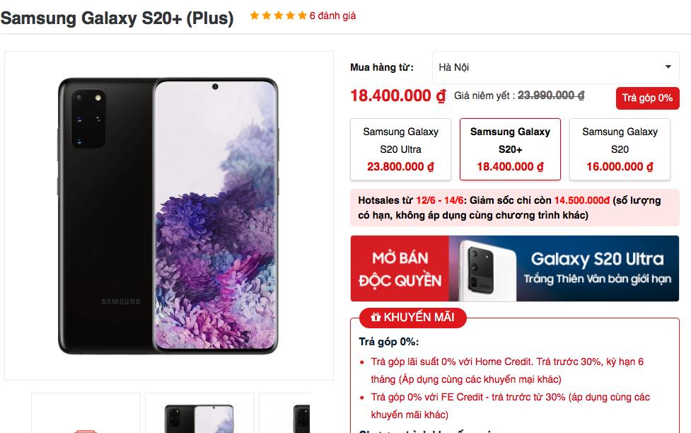 Galaxy S20 mất giá 10 triệu chỉ sau hơn 3 tháng lên kệ tại VN - Ảnh 3.