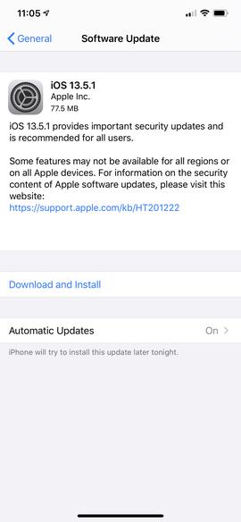 Apple ra mắt iOS 13.5.1, vô hiệu hóa công cụ jailbreak Unc0ver - Ảnh 1.
