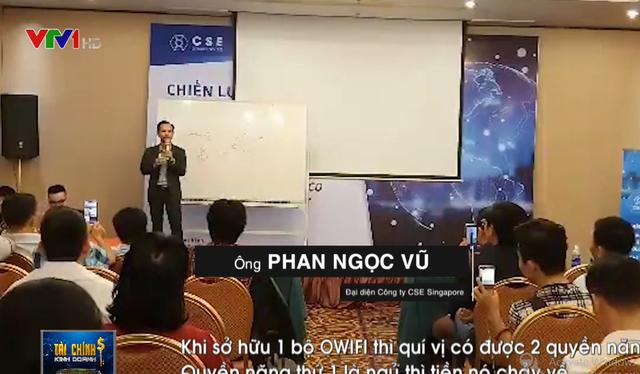 Đại diện Công ty CSE Singapore giới thiệu về quyền năng của khách hàng khi sở hữu 1 bộ Owifi 5G.